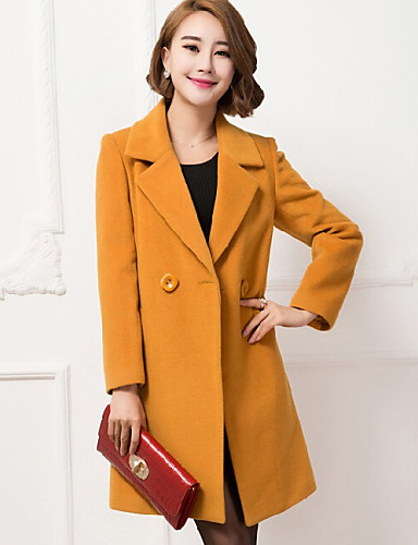 Women's OL Vogue Lapel Long Sleeve Straight All Match Coat
