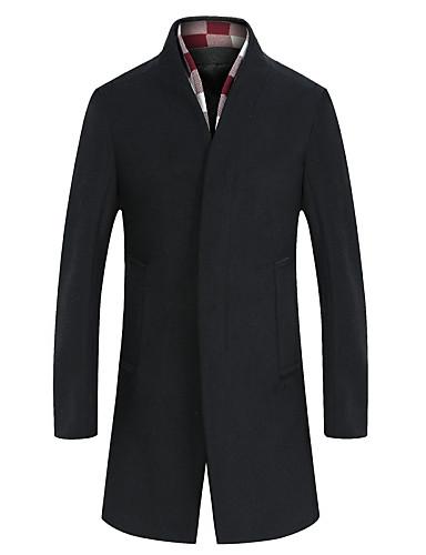 Casual/hétköznapi Egyszerű Férfi Kabát,Egyszínű Tél Ősz Hosszú ujj Hosszú