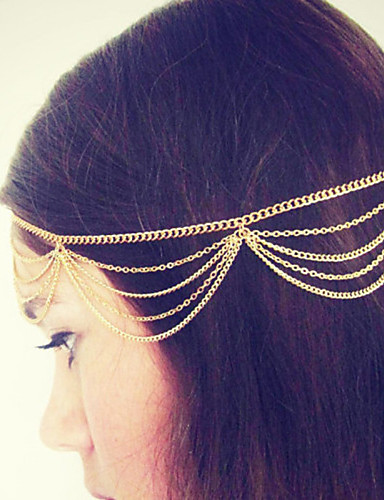 Women's Vintage Cute Party Work Alloy Head Chain - Solid Colored