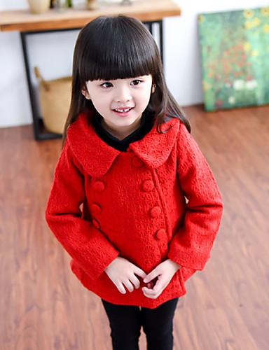 Da Ragazza Abbigliamento Tinta Unita Manica Lunga Standard Cotone Giubbino E Cappotto Rosso #04604524