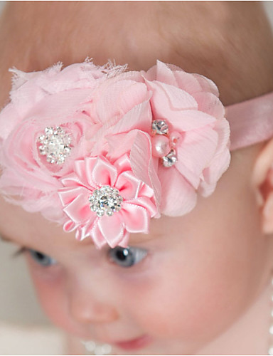 Girls' Boys' Hair Accessories, All Seasons Nylon Others Satin Headbands - Pink