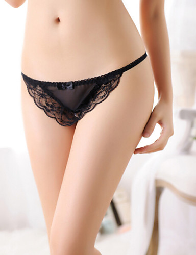 Women's Sexy Lace Pearls Panties G-strings & Thongs Underwear T-Back Women's Lingerie