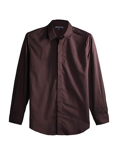 JamesEarl Muškarci Kragna košulje Dugi rukav Shirt & Bluza Bež - DA112045456