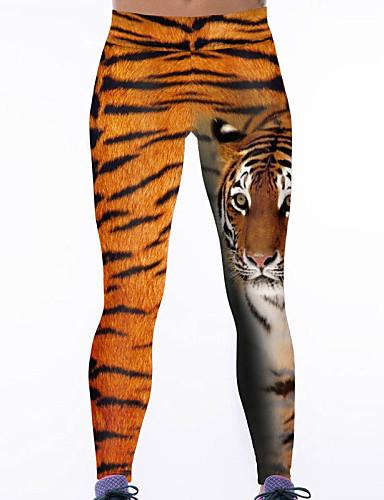 Women's Enormous Tiger Print Yoga Leggings