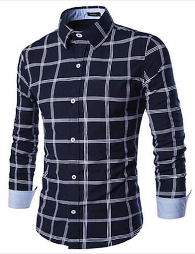 Veći konfekcijski brojevi Majica Muškarci Karirani uzorak