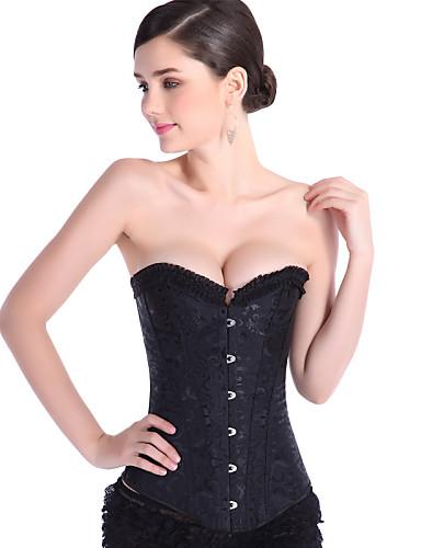 11e47b66537 Women s Lace Up Plus Size Overbust Corset-Jacquard