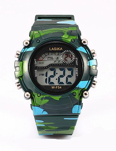 ילדים שעוני ספורט שעוני אופנה קווארץ שעוני ספורט LED Plastic להקה שחור כחול ירוק ורוד צהוב