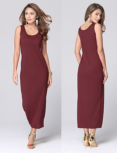 Women's Fashion Casual / Work / Beach / Holiday U Neck Sleeveless Halter Maxi Dress
