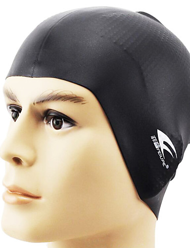 baratos Touca de Natação-Touca de Natação para Adulto Silicone Prova-de-Água Confortável Mantenha o cabelo seco Natação Mergulho