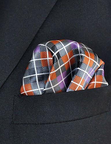 עבודה של גברים מזדמנים ריון כיס עניבה ריבועים - קשת לבדוק אקארד, בסיסי