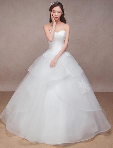 공주 스윗하트 바닥 길이 오간자 사용자 정의 웨딩 드레스 와 레이스 으로