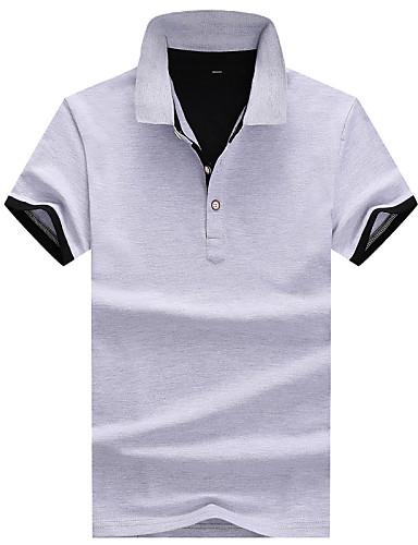 Pánské - Barevné bloky Polo, Moderní styl Bavlna Košilový límec