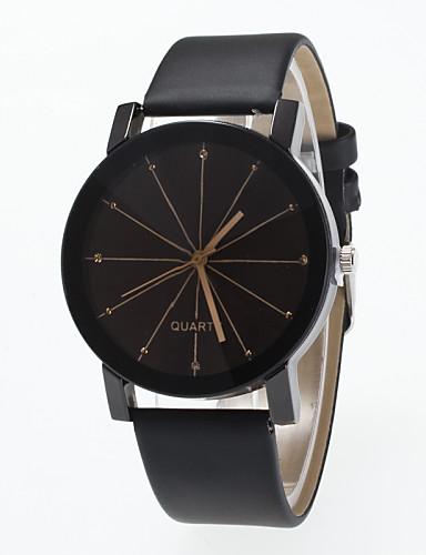 Mulheres Relógio de Moda Simulado Diamante Relógio Quartzo imitação de diamante PU Banda Preta