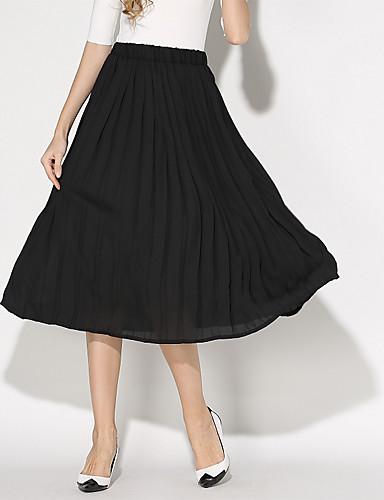 Vintage / Ležerno Ženski Suknje-Iznad koljena,Neelastično Poliester