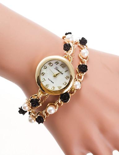 בגדי ריקוד נשים קווארץ שעון צמיד שעונים יום יומיים סגסוגת להקה אלגנטי / אופנתי