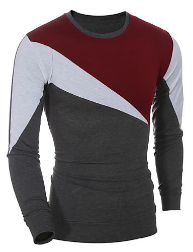 Bomull T-skjorte - Fargeblokk Sport Herre