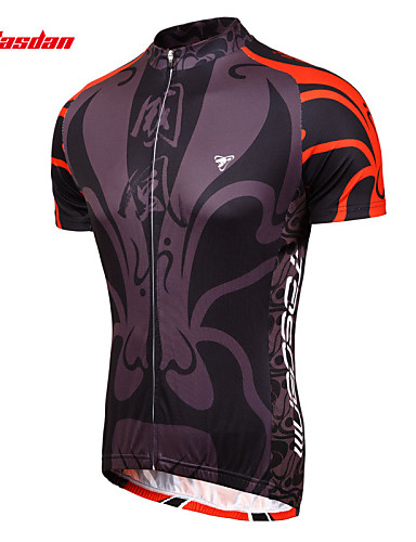 cheap Cycling Clothing-TASDAN Men's Short Sleeve Cycling Jersey Bike Jersey Sleeves Top Breathable Quick Dry Sweat-wicking Sports 100% Polyester Mountain Bike MTB Road Bike Cycling Clothing Apparel / Stretchy