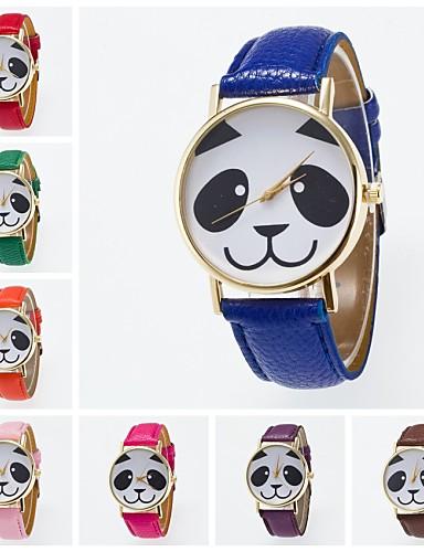 Damen Armbanduhr PU Band Charme / Modisch Schwarz / Weiß / Blau / Ein Jahr / Jinli 377