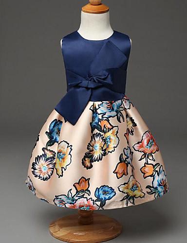 Djevojka je Ljeto / Proljeće / Jesen Ležerno/za svaki danUmjetna svila-Ljeto / Proljeće / Jesen-Plava