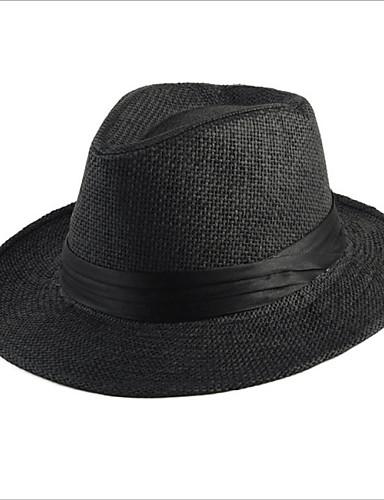 Uniseks Slamnati šešir-Vintage / Slatko / Zabava / Posao / Ležerne prilike-Proljeće / Ljeto / Jesen / Zima / Sva doba,Slama