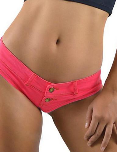Damen Hose - Sexy / Einfach Kurze Hose Baumwolle / Polyester Mikro-elastisch