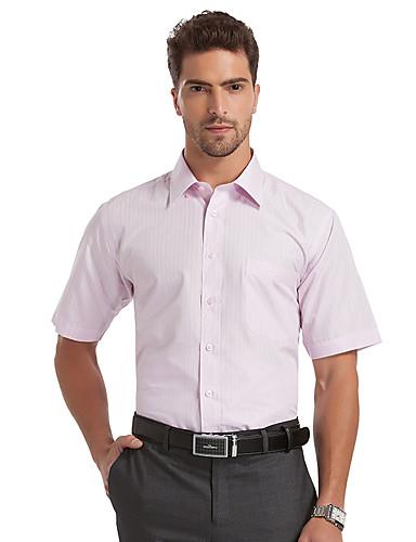 Seven Brand® Hommes Col de Chemise Manche Courtes Shirt et Chemisier Rose-E99A305510