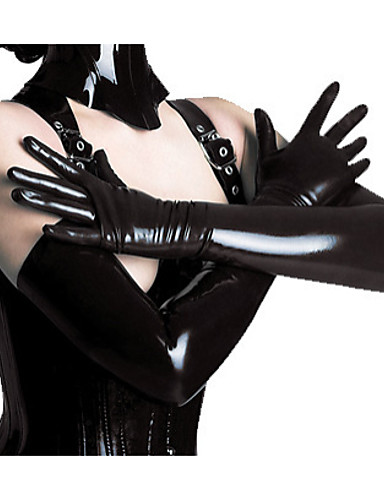 cheap Sexy Costumes-Women's Witch Queen Cosplay Sexy Uniforms Sex Zentai Suits Gloves Catsuit Solid Colored Gloves
