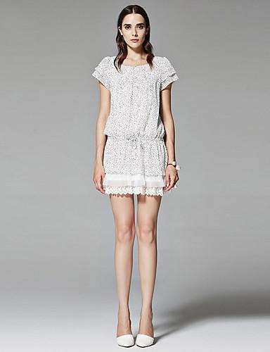 ZigZag® 여성 라운드 넥 짧은 소매 셔츠 & 블라우스 아이보리 - 11216