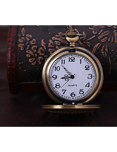 Homens Relógio de Bolso Gravação Oca Lega Banda Dourada