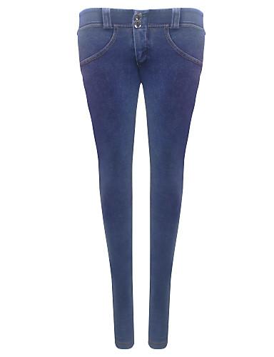 Damen Hose - Leger / Einfach Jeans Baumwolle Mikro-elastisch