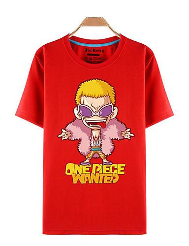 povoljno Anime kostimi-Inspirirana One Piece Roronoa Zoro Anime Cosplay nošnje Japanski Cosplay majica Print Kratkih rukava Top Za Muškarci / Žene