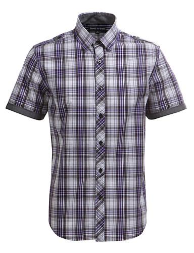 JamesEarl Férfi Állógallér Rövid ujjú Shirt és blúz Piros - DA102005018
