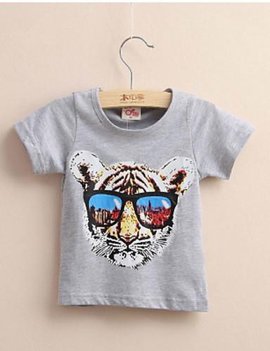 Poikien Painettu Puuvilla T-paita, Kesä
