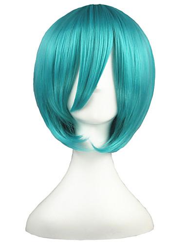 voordelige Cosplay Pruiken-Vocaloid Mikuo Cosplaypruiken Heren Dames 14 inch(es) Hittebestendige vezel Groen Anime