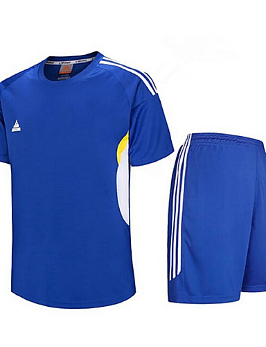 a13816dbcf4 Men s Soccer Tracksuit Jersey Top Breathable Quick Dry Exercise   Fitness  Leisure Sports Football   Soccer Terylene Light Green Royal Blue