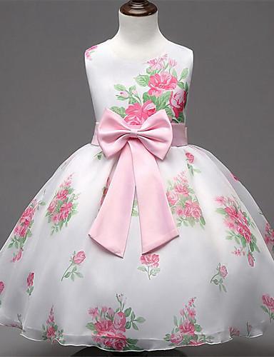 שמלה חוטי זהורית קיץ ללא שרוולים ליציאה פרחוני הילדה של