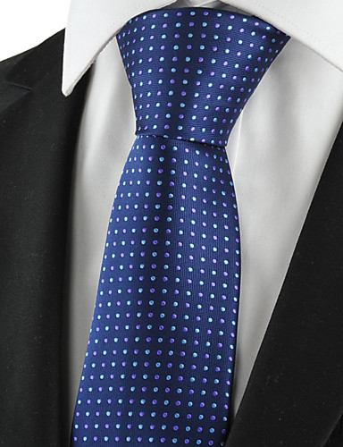 Homme Coton Rayonne Polyester Rétro Mignon Soirée Travail Décontracté Cravate Points Polka