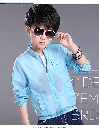 Jungen Anzug & Blazer-Lässig/Alltäglich einfarbig Polyester Sommer Blau / Grün / Weiß