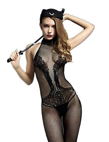 Costumes Vêtement de nuit Femme,Sexy Rétro Jacquard Rayonne Nylon