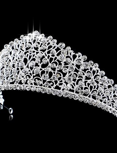 abordables Demoiselles d'Honneur-Laiton / Cristal / Strass Diadèmes / Coiffure avec Fleur 1pc Mariage / Occasion spéciale Casque