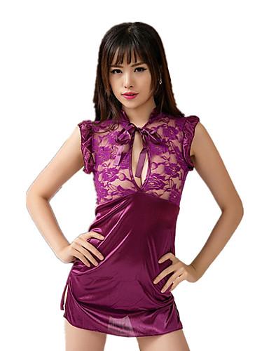 Costumes Vêtement de nuit Femme Jacquard - Moyen Rayonne Nylon Noir Violet