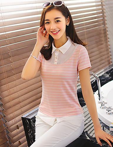 Wake Up ® Damen Rundhalsausschnitt Kurze Ärmel T-Shirt Rosa-T16062