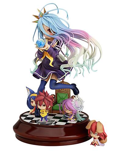 olcso Állat jelmezek-Anime Akciófigurák Ihlette No Game No Life Shiro PVC 20 cm CM Modell játékok Doll Toy