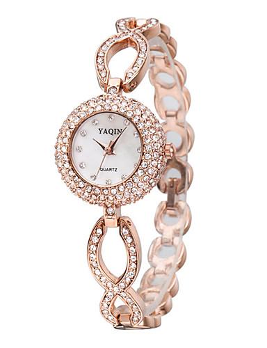 d77cbf5c0 Mujer Reloj Pulsera Cuarzo Cuarzo Japonés / Aleación Banda Destello  Elegantes Plata Oro Rosa