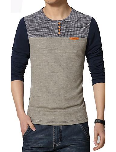 Store størrelser T-skjorte - Fargeblokk Lapper Sport Herre