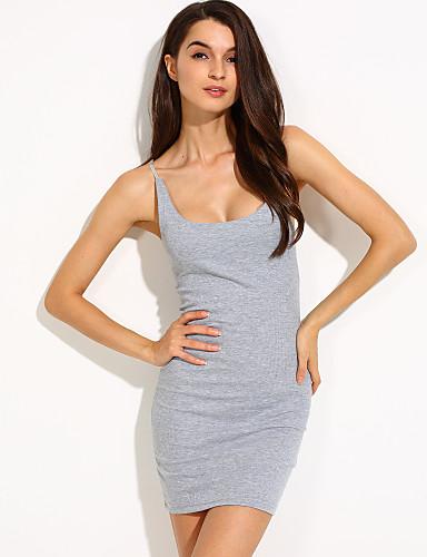 Dámské Bodycon Šaty - Jednobarevné Mini Hluboké U
