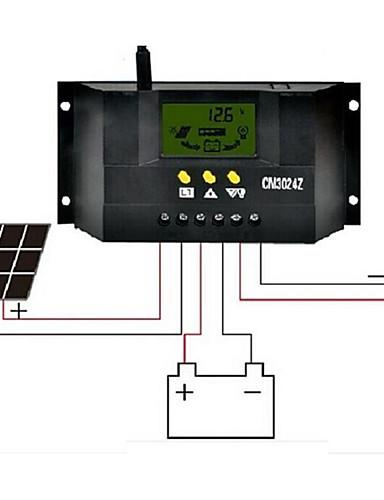 저렴한 전기 & 도구-cm3024z 30A 12V / 24V LCD 액정 디스플레이 태양 광 컨트롤러