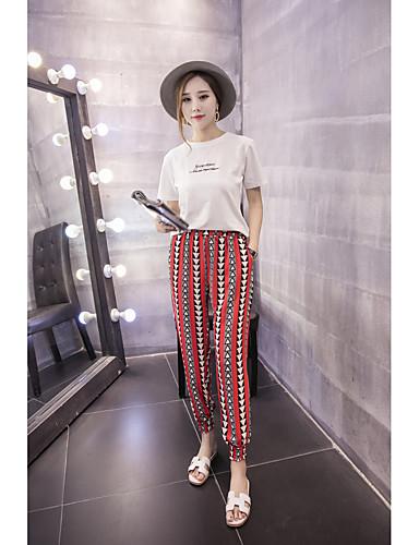 Kvinders Simpel Harem Bukser Mikroelastisk Polyester / Nylon