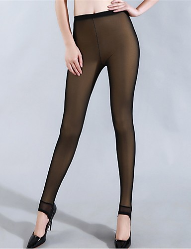 Dame Fleecefôret Tights - Netting, Ensfarget Medium Midje