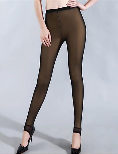 Dame Fleecefor Legging - Net, Ensfarvet Medium Talje